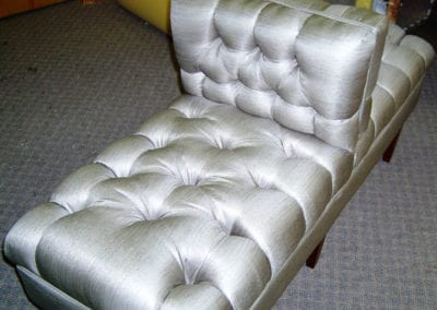 A unique back-to-back chaise.